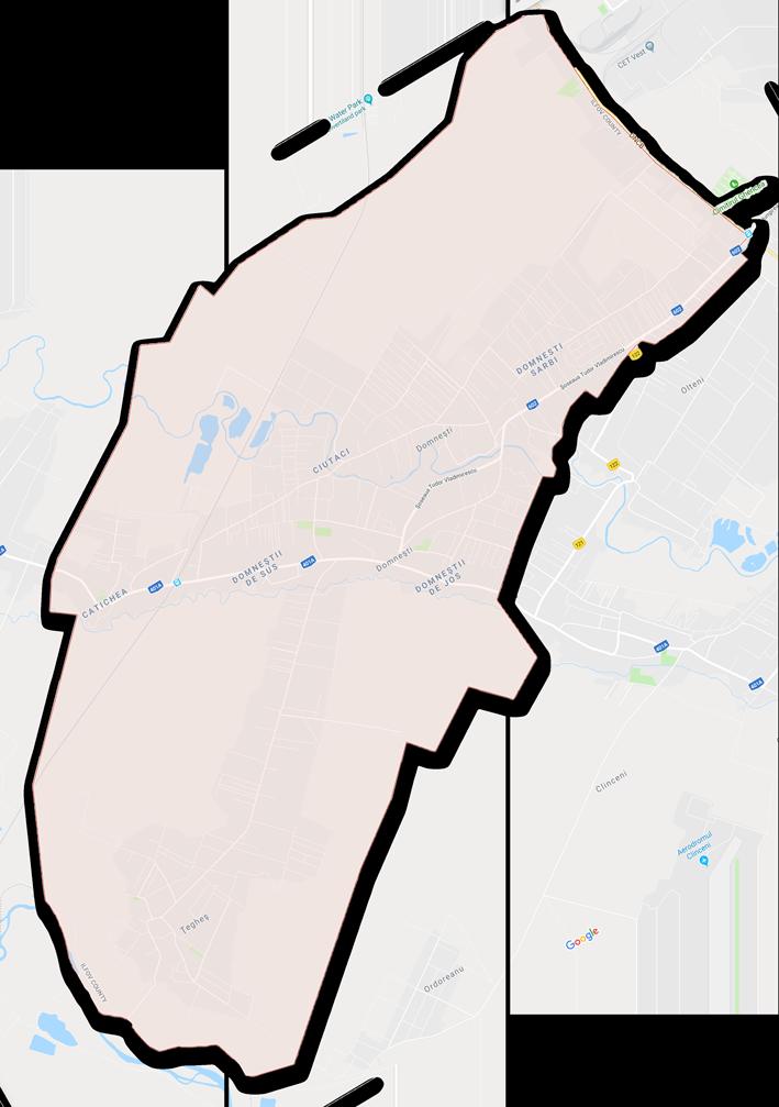 Harta Primăria Domnești Ilfov Sos. Alexandru Ioan Cuza, nr. 25-27
